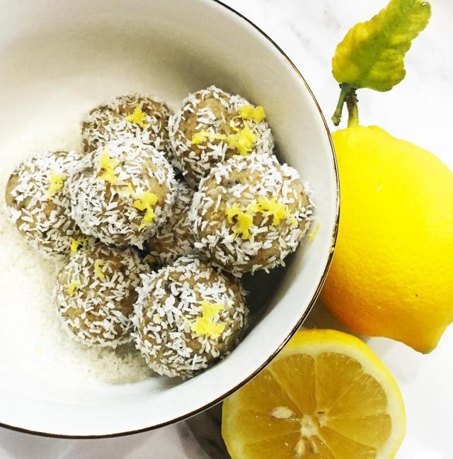 lemon coco balls