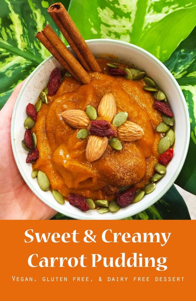 carrot pudding pinterest
