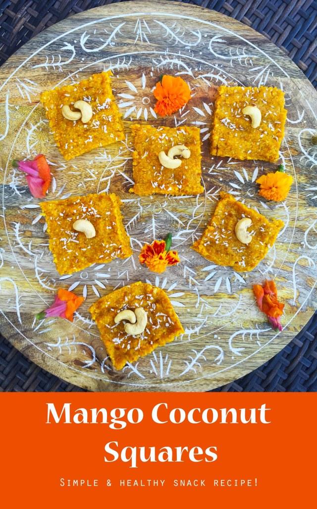 mango coconut squares pinterest
