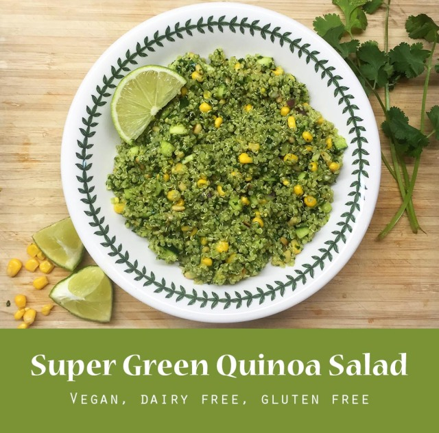 SUPER GREEN QUINOA SALAD pinterest