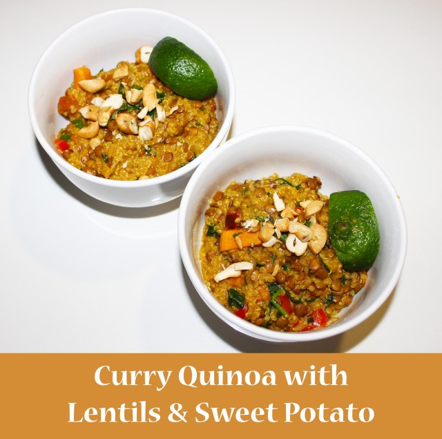 lentil curry quinoa pin